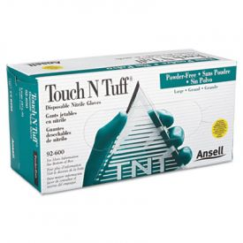 AnsellPro Touch N Tuff® Nitrile Gloves, Teal, Size 8.5-9