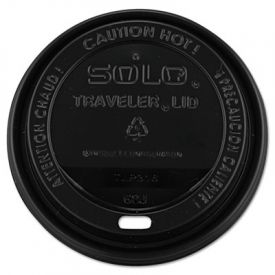 SOLO® Cup Traveler Drink-Thru Lid, 10-24oz Cups, Black