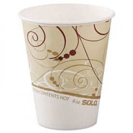 Dart Symphony Paper Hot Cups 8 oz., Polylined