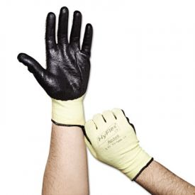 AnsellPro HyFlex Kevlar® Work Gloves, Gray/Green, Size 10