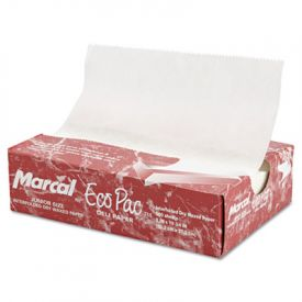 Marcal® Eco-Pac Natural Interfolded Dry Wax Paper, 8 x 10 3/4, White