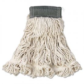 Rubbermaid® Commercial Web FootWet Mop, Cotton/Synthetic, Med