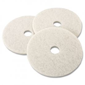 3M Ultra High-Speed Burnishing Floor Pads 3300, 20-in, Natural White