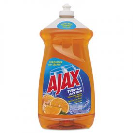 Ajax® Dish Detergent, Liquid, Antibacterial, Orange, 52 oz, Bottle