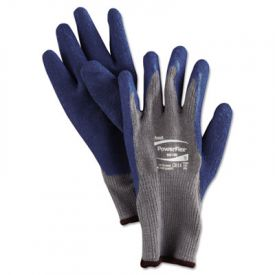 AnsellPro PowerFlex® Gloves, Blue/Gray, L