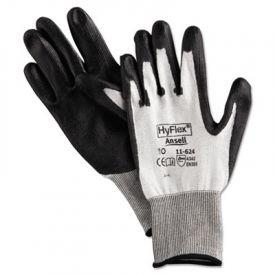 AnsellPro HyFlex Dyneema®/Lycra® Work Gloves, Gray, Size 10