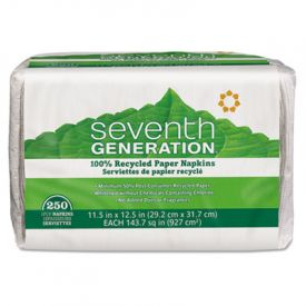 Seventh Generation® 100% Recycled Napkins, 1-Ply, 11 1/2 x 12 1/2