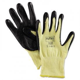 AnsellPro HyFlex Kevlar® Work Gloves, Yellow/Black, Size 8