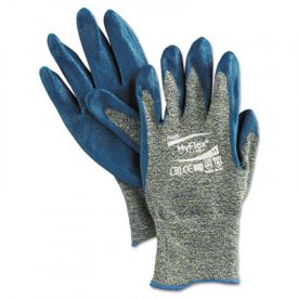 AnsellPro HyFlex Kevlar® Work Gloves, Blue/Green, Size 11