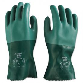 AnsellPro Scorpio Neoprene Gloves, Green, XL