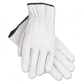 Memphis™ Grain Goatskin Driver Gloves, White, Extra-Large