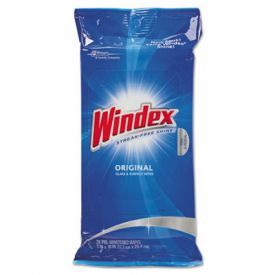 Windex® Glass & Surface Wipes, Cloth, 7 x 10