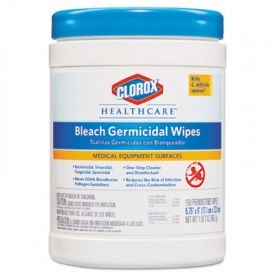 Clorox® Healthcare® Bleach Germicidal Wipes, 6 x 5, Unscented