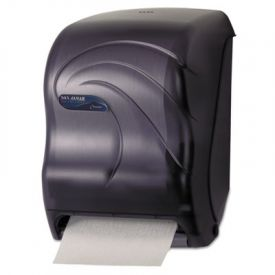San Jamar® Tear-N-Dry Electronic Touchless Roll Towel Dispenser, Black