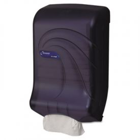 San Jamar® Large Cap. Ultrafold; Towel Dispenser, Oceans, Black