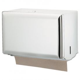 San Jamar Singlefold Towel Dispenser, White, 10 3/4 x 6 x 7 1/2