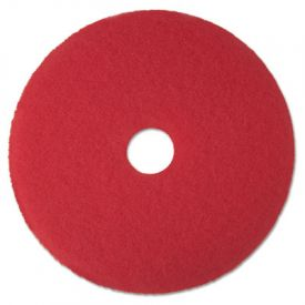 3M Red Buffer Floor Pads 5100, 14-Inch, Red