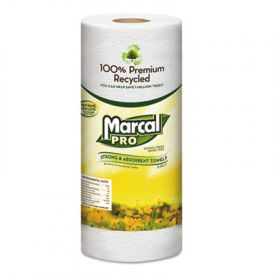Marcal® 100% Premium Recycled Perforated Towels, 11 x 9, White