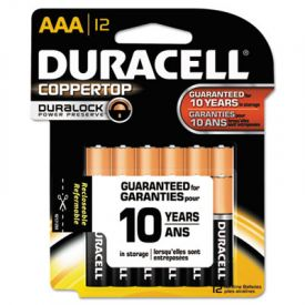Duracell® CopperTop Alkaline Batteries w/ Duralock Technology, AAA