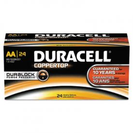Duracell® CopperTop Alkaline Batteries w/ Duralock Technology, AA