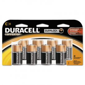 Duracell® CopperTop Alkaline Batteries, w/ Duralock Technology, C