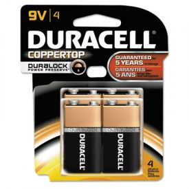 Duracell® CopperTop Alkaline Batteries w/ Duralock Technology, 9V