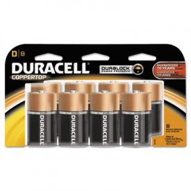 Duracell® CopperTop Alkaline Batteries, w/ Duralock Technology, D