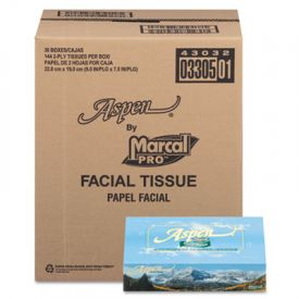 Marcal® PRO™ Aspen 100% Recycled Facial Tissue, 2-Ply