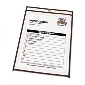 C-Line® Shop Ticket Holder with Reinforced Edges, Both Sides Clear, 8 1/2 x 11