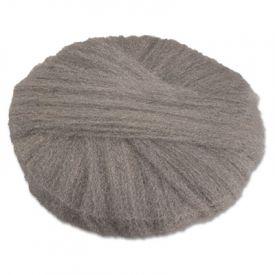 GMT Radial Steel Wool Floor Pads, Grade 1 (Med): Clean & Dry Scrub, 20