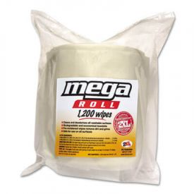 2XL Mega Roll Wipes Refill, 8 x 8, White