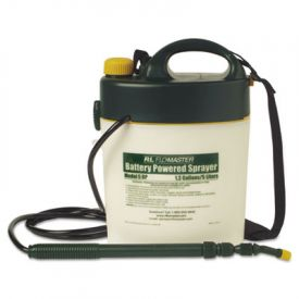 R. L. Flomaster Portable Battery-Powered Sprayer, 1.3 Gallon, Black/White