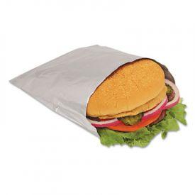 Bagcraft Papercon® Foil Single-Serve Bags, 6 x 3/4 x 6 1/2, Silver