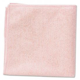 Rubbermaid® Commercial Microfiber Cleaning Cloths, 16 X 16, Red