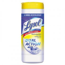 LYSOL® Brand Dual Action™ Disinfecting Wipes, Citrus, 7 x 8, White