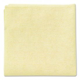 Rubbermaid® Commercial Microfiber Cleaning Cloths, 16 X 16, Yellow