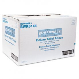 Boardwalk® 2-Ply Toilet Tissue, White, 400 Sheets/Roll