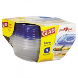 Glad® GladWare; Plastic Containers with Lids, 25 oz.