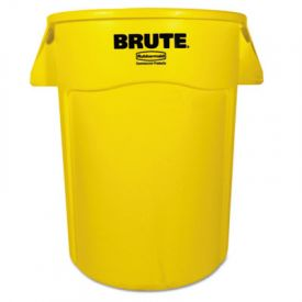 Rubbermaid® Commercial Vented Round Brute Cont., Round, 44 gal, Yellow