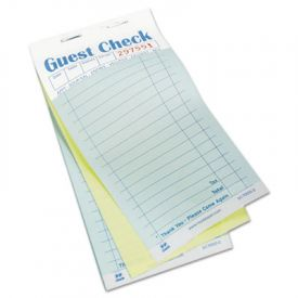 Royal Guest Check Book, Carbonless Duplicate, 3 1/2 x 6 7/10