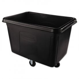 Rubbermaid® Commercial Cube Truck, Rectangular, 500-lb. Cap., Black
