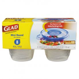 Glad® GladWare; Plastic Containers with Lids, 4 oz.