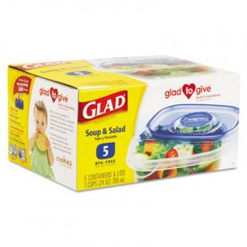 Glad® GladWare; Plastic Containers with Lids, 24 oz.