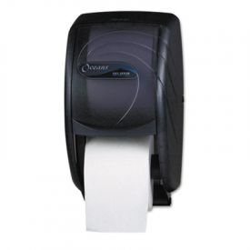 San Jamar® Duett Toilet Tissue Dispenser, Oceans, Black Pearl