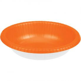 Sunkissed Orange Paper Bowl 20oz