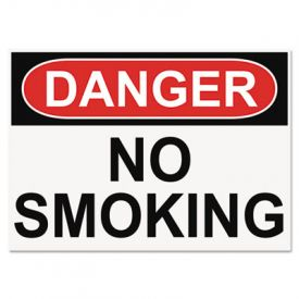 Headline® OSHA Safety Signs, DANGER NO SMOKING, 10 x 14
