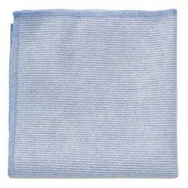 Rubbermaid® Commercial Microfiber Cleaning Cloths, 12 x 12, Blue