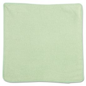 Rubbermaid® Commercial Microfiber Cleaning Cloths, 12 x 12, Green