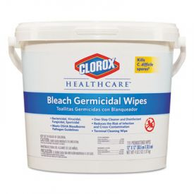 Clorox® Healthcare® Bleach Germicidal Wipes, 12 x 12, Unscented