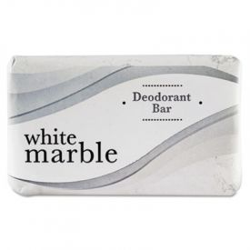 White Marble Guest Deodorant Soap, Individually Wrapped, 2.5 oz. Bar